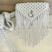 Macrame Belted Purse