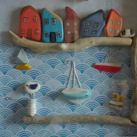 Coastal Themed Wall Decor- Harbour View
