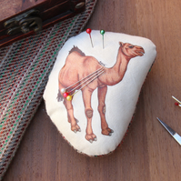 Dromedary Camel Welsh Tweed Magnetic Pin Cushion - Animal Plush Needle Minder