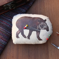 Tapir Welsh Tweed Magnetic Pin Cushion - Animal Plush Needle Minder