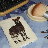 Okapi Washable & Reusable Eco Fabric Animal Face Wipe
