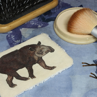 Tapir Washable & Reusable Eco Fabric Animal Face Wipe