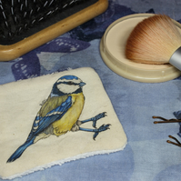 Blue-tit Washable & Reusable Eco Fabric Bird Face Wipe