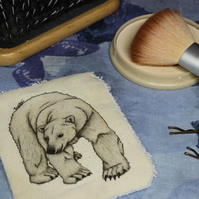 Polar Bear Washable & Reusable Eco Fabric Animal Face Wipe
