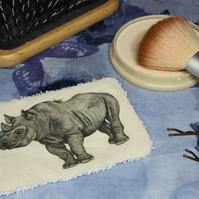 Rhino Washable & Reusable Eco Fabric Animal Face Wipe