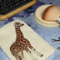 Giraffe Washable & Reusable Eco Fabric Animal Face Wipe