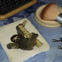 Sloth Washable & Reusable Eco Fabric Animal Face Wipe