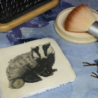 Badger Washable & Reusable Eco Fabric Animal Face Wipe
