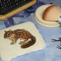 Chipmunk Washable & Reusable Eco Fabric Animal Face Wipe