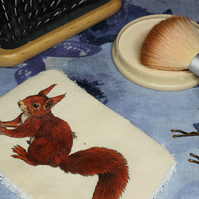 Red Squirrel Washable & Reusable Eco Fabric Animal Face Wipe