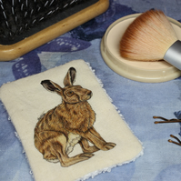 Hare Washable & Reusable Eco Fabric Animal Face Wipe