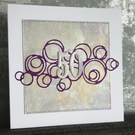 Gold & Purple 50th Birthday Card