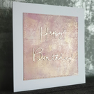 Pink & Gold Birthday Card