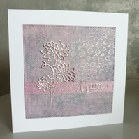 Pink & Silver Card (Mum)