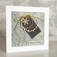 Green & Gold Christmas Card