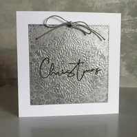 Silver Embossed Bauble Card
