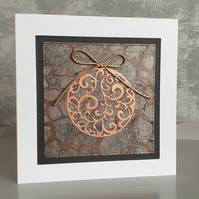 Bronze Bauble Christmas Card