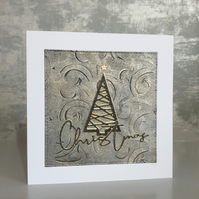 Gold & Black Christmas Tree Card