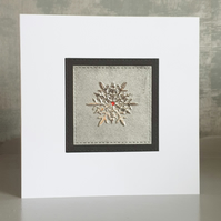 Silver Christmas Cards (Pack of 4)