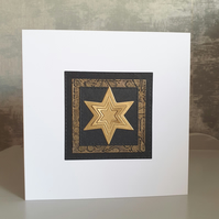 Black and Gold Christmas Cards (Pack of 4)
