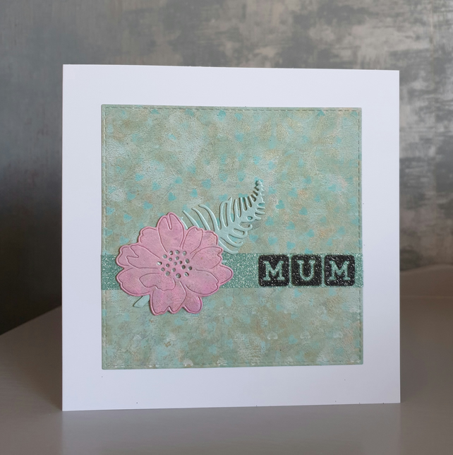 Green Birthday Card - Mum