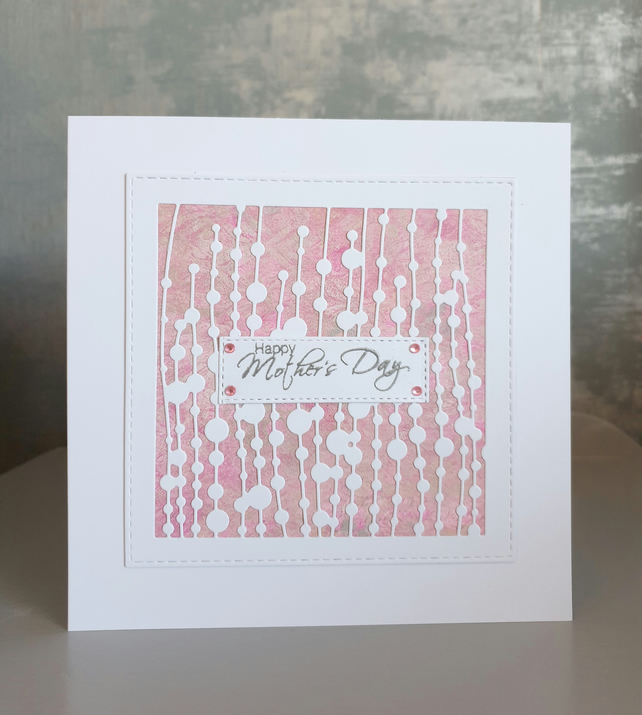 Pink Raindrop Mother's Day Card