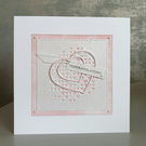 Pink Heart Congratulations Card