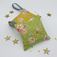Lavender Bags - Set of 2 - Tilda Bumblebee Fabric - Rosa Mollis Green and Golden