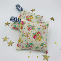 Lavender Bags - Set of 2 - Tilda Apple Butter Sue Fabric - Dove White