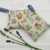 Lavender Bags - Set of Two - Tilda Apple Butter Sue Fabric - Dove White