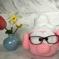 Handmade Crochet Cute Smurf Glasses Holder
