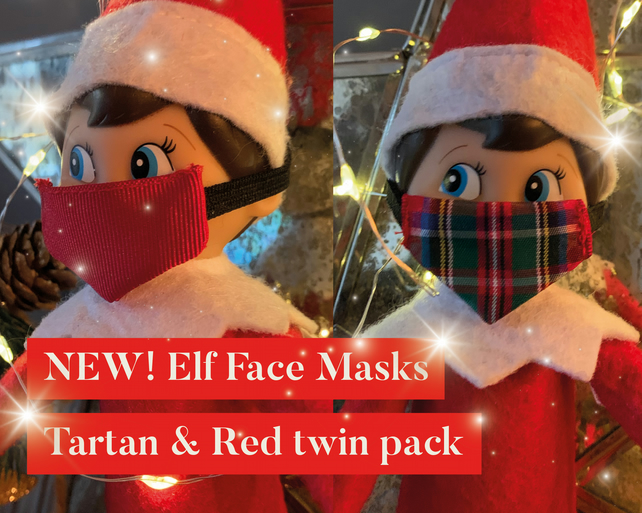 Elf on the Shelf Mini Face Mask Twin Pack!