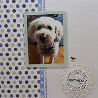 Personalised pet photo card