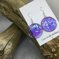 Purple sparkle circles
