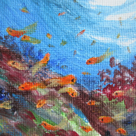 Fishes. In the Sea Magnet. Painting