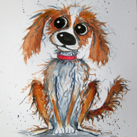 Scruffy the cutest dog. Painting