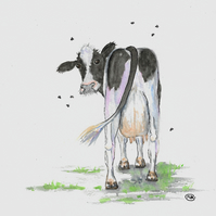 Cow Udderly Funny. Original Painting