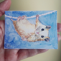 Hamster miniature ACEO Original Painting