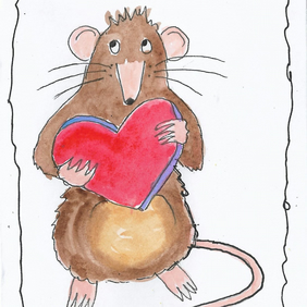 Mouse Valentine's Card. Free UK shipping