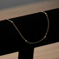 Gold Ball-Chain Anklet
