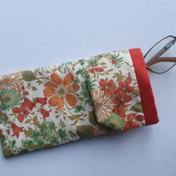 Floral Glasses Case with Pocket (Ref 0148)