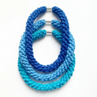 Woven cotton hand knotted necklace, Matching bracelet available, Gifts for girls