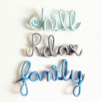 LARGE Custom wire word, Any word, wall decor, Personalised gift
