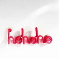 Hohoho - knitted word - Christmas decor - Personalised Christmas gift
