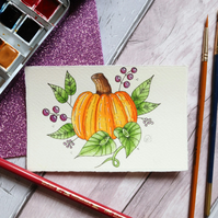 Pumpkin original fine art illustration