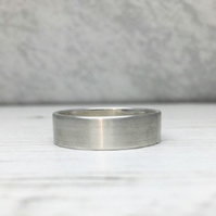 Brushed Sterling Silver Band