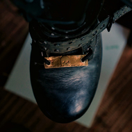 Boot Lace Tag in reclaimed brass