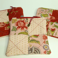 Red Floral Coin Purses