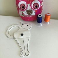 Cat scissors holder in white