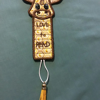 Giraffe bookmark, love to read.